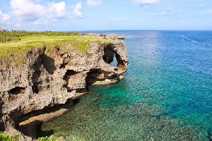 沖繩萬座毛+古宇利島+美麗海水族館+美國村北部巴士一日遊